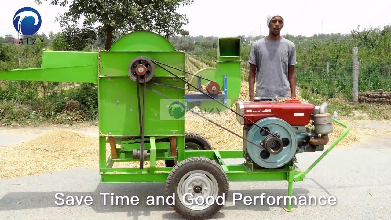 Millet Threshing Machine Big Thresher For Rice Wheat
