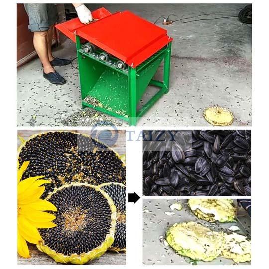 small sunflower thresher