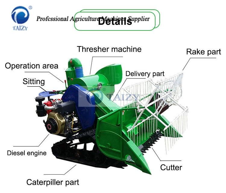 wheat harvester structure