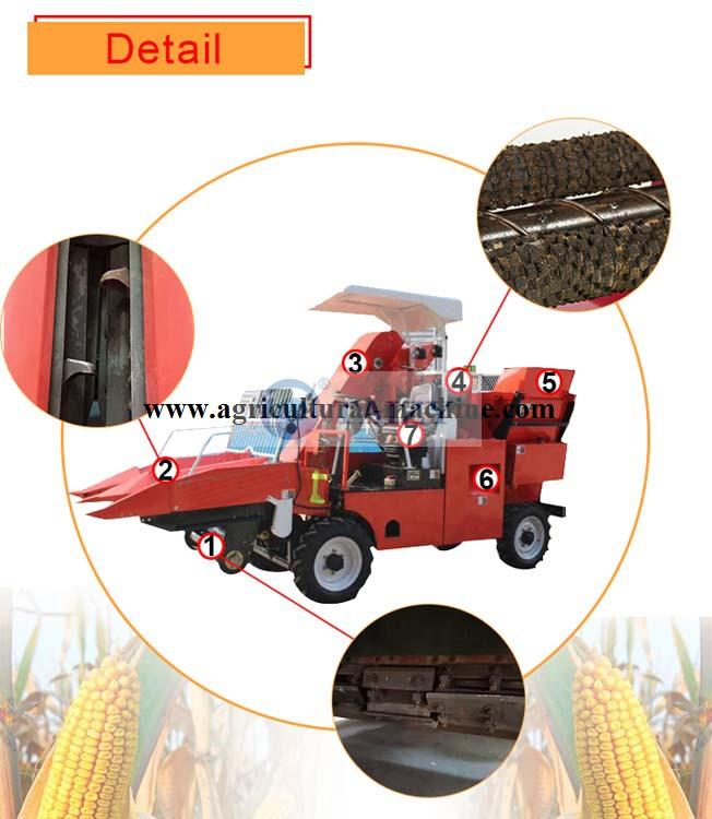 corn harvesting machine structure