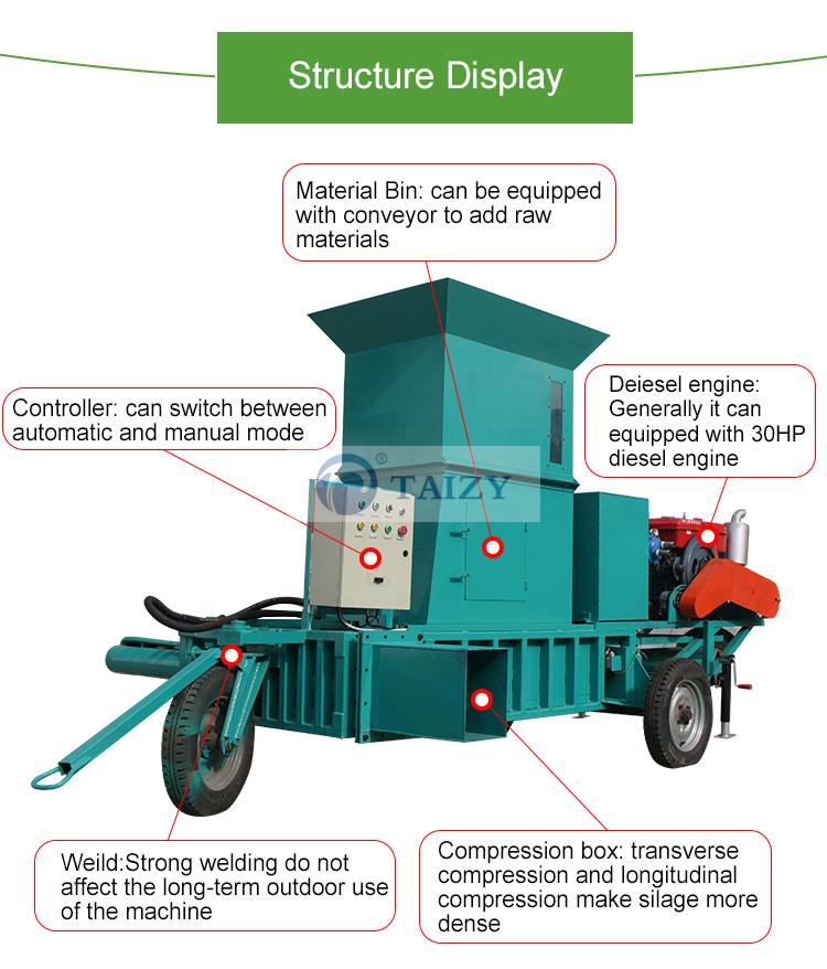 silage baling machine structure