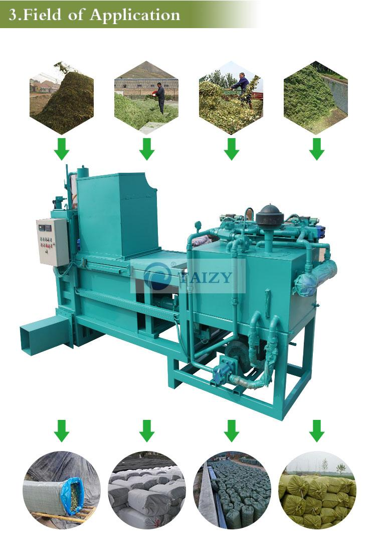 the application of hydraulic baler machine
