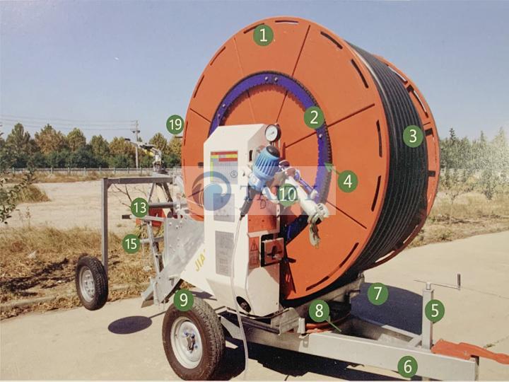 Irrigation and drainage machine