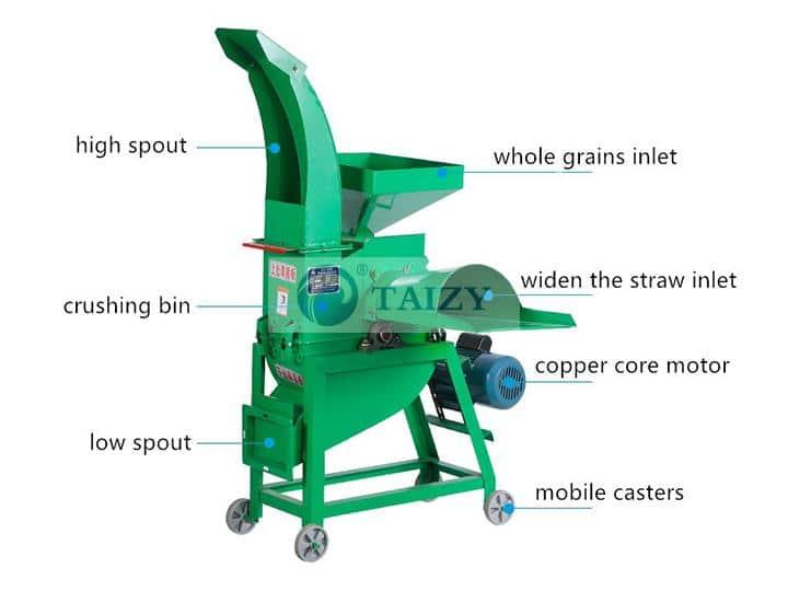 Straw cutter machine and grain crusher