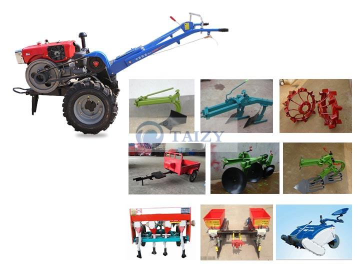 walking tractor attachments