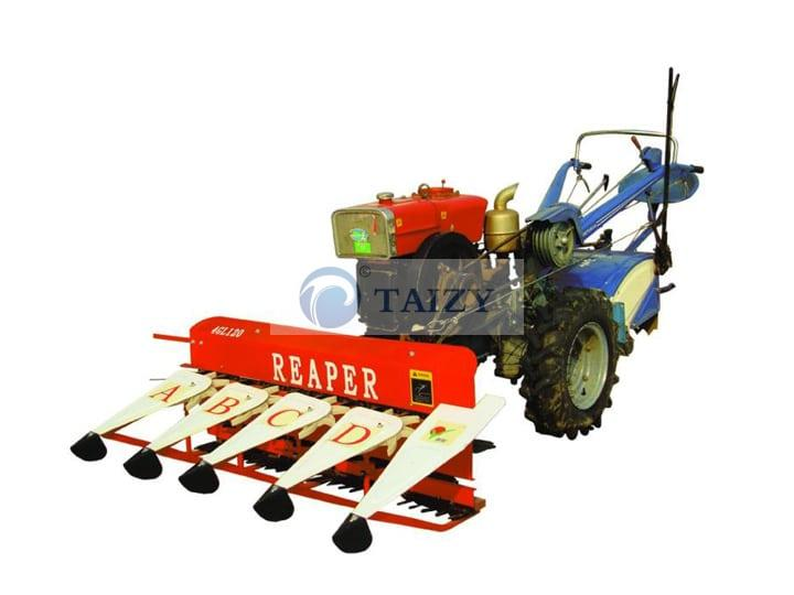 Walking-tractor-with-harvester